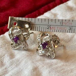 Swarovski Jewelry - 🤩Purple Swarovski diamond earrings⛄️🥳